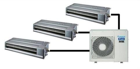 中央空调与分体式空调安装差别
